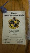 Harry Potter Sorting House HUFFLEPUFF Certificate Gift Hogwarts Personalised