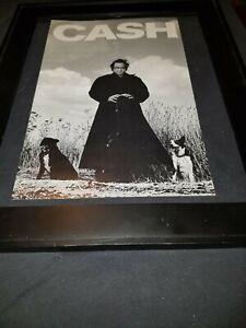 Johnny Cash Rare Original Radio Promo Poster Ad Framed!