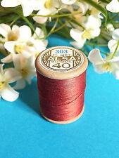 703b / Beautiful Coil Old Thread DMC Cotton Alsa No. 40 Red Amaranth No. 303