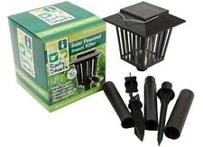 SOLAR POWERED UV INSECT KILLER FLY MOSQUITO ZAPPER LANTERN Ground Stand Hanging