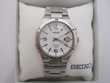 SEIKO SNQ075P PERPETUAL CALENDAR MENS STAINLESS STEEL WATCH.