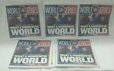 5 Chicago Sun Times Newspaper  Chicago Cubs World Series Champions 11-03-2016 !!