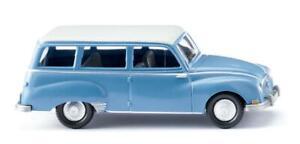 WIKING 012301 Auto Union 1000 Universel - Bleu Avec Blanc Toit , Ho
