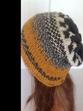 Hand Knit Wool Hat Beanie Beret Slouch Multicolor Hip Deigner Fashion Unique