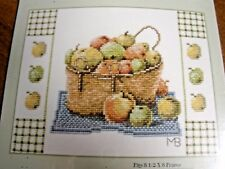 NEW Cross Stitch Kit Marjolein Bastin Lanarte Hallmark BASKET OF APPLES