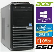 Acer PC, Win.10 Pro + MS Office, Intel i5 3,46GHz, 8GB RAM, 120GB SSD, 640GB HDD