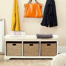 Safavieh Lonan Storage Bench In White AMH5733C
