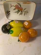 Murano Art Glass Fruit and Vegetable Collection (NEW) 6 Pieces