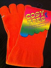 Toe Socks - cotton ORANGE by Cosy Toes