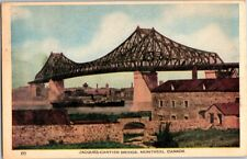 VINTAGE POSTCARD POSTMARKED JACQUES CARTIER BRIDGE MONTREAL CANADA