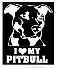 2 x JDM OEM Aufkleber I love my Pitbull Hund Dog Aufkleber 15 cm Decal Sticker