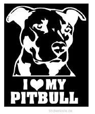 2 x JDM OEM Aufkleber I love my Pitbull Hund Dog Aufkleber 15 cm Decal Sticker