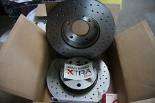 2x Brembo Xtra Sport Brake Discs Audi, Seat, Skoda, VW Set for Rear