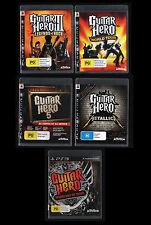Bulk Lot PS3 GUITAR HERO Legends of Rock World Tour 5 Metallica Warriors of Rock
