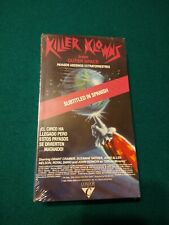 ORIGINAL 1987 KILLER KLOWNS FROM OUTER SPACE VHS STILL SEALED CLOWNS SPANISH SUB