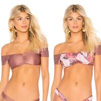 Maaji Shimmering Cognac Cumbria Bikini Reversible Swim Top Sz S