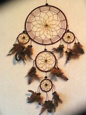 "18"" Maroon/Gold Handmade Dreamcatcher,  18"" tall 12"" wide, No 2 are Alike"