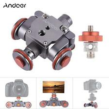 Andoer Electric Motorized 3-Wheel Video Pulley Car Dolly Rolling for DSLR Camera