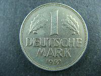 1 mark 1957 G Germany KM# 110 Deutsch Allemagne Deutsche