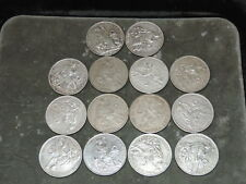 Lot of 14 Peru Sol Silver Coins 1923-1934 - Circulated
