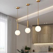 Glass Pendant Light Gold Bar Lamp Modern Ceiling Light Kitchen Pendant Lighting