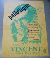 Affiche de cinéma : MONSIEUR VINCENT de Maurice CLOCHE