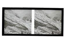 Glacier de Bionnassay Mont-Blanc France Photo E3 Stereo Plaque de verre 1927