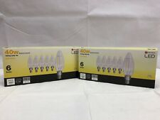 40 W Equivalent Dimmable Soft White B10 Vintage LED Decorative 6-Pack LOT OF 2