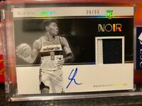 2019-20 Panini Noir RUI HACHIMURA 3-Color RPA Rookie Patch Auto /99
