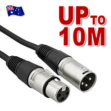 3-Pin XLR Balanced Audio Extension Cable Microphone Lead Mic Cord Cannon Plug