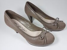 M & S beige suede leather high heel shoes uk 4.5