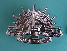 AUSTRALIAN ARMY NURSES SILVER RISING SUN BROOCH - REPRO PIN BACK AIF SISTER