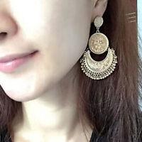 Vintage Boho Ethnic Tassel Coin Drop Dangle Women Fashion Jewelry Earrings Gift