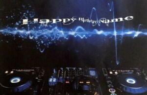 Personalised homemade birthday card - DJ Decks