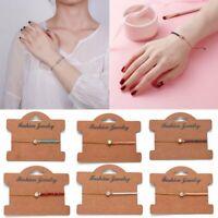 Fashion Charm Wish Bracelets Friendship Birthday Bridesmaid Chain Bracelet Gifts