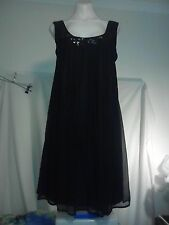 Contony Ladies Silk Dress in Black - One Size 12 - One Size 14 BNWTO