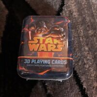 3D Lenticular Star Wars Playing Cards Deck in Metal Tin-NEW!