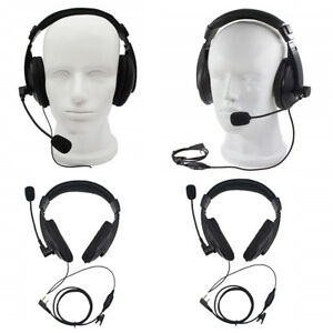 2Pcs 2Pin Noise canceling Headset Headphone with PTT Mic for Baofeng