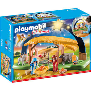 Playmobil Nativity Manger with Lights Christmas Playset 9494 Ages 4+