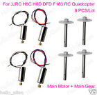 4PCS Motor + Gear Set for JJRC H8C H8D DFD F183 RC Drone Quadcopter Spare Parts