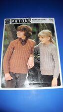 Patons Boy/'s Sweater Knitting Pattern 7938