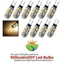 10 - Low Voltage Landscape G4 LED bulbs WARM WHITE 9LED's per bulb