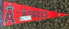 ALBERT PUJOLS AUTOGRAPHED ANAHEIM ANGELS REAL PENNANT 30x11 WITH TICKET PROOF