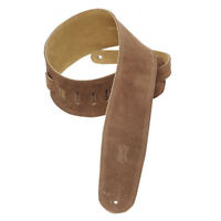 """Levy's Suede Bass Guitar Strap 3 1/2"""" with Suede Backing Brown"""