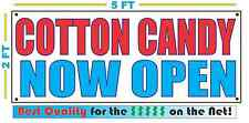 Cotton Candy Now Open Banner Sign New Larger Size Best Quality for the $