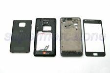 Kit Cover Scocca Housing Case Nero Parte Ricambio Compatibile Samsung S2 i9100