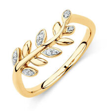 0.06 Ct Round Cut Diamond Engagement Eternity Band 14K Yellow Gold Ring 6 5 7.5