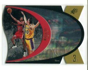 1997 Upper Deck SPX Gold ALLEN IVERSON Rookie RC 76ers Die Cut #SPX35