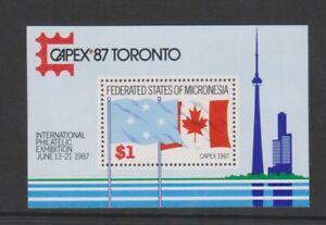 Micronesia - 1987, Anniversaries & Events, Capex '87 Exh sheet - MNH - SG MS70