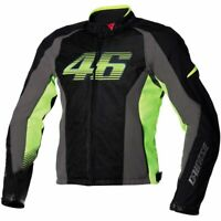 Dainese G. VR46 Air Tex - Black/Yellow - Size 52 Euro - **STORE CLOSED**